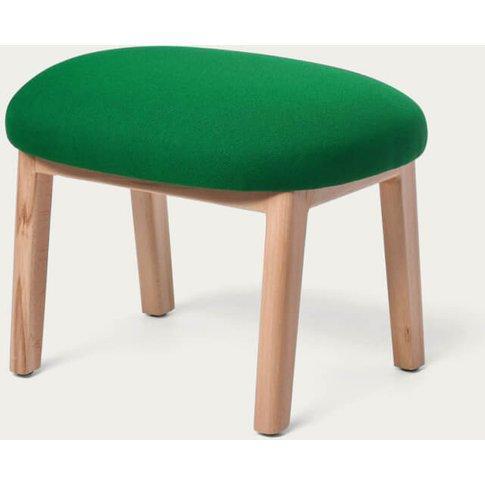 Darkgreen Dost Wood Footstool