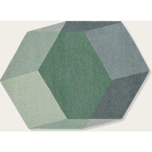 Green Iso Hexagon Rug