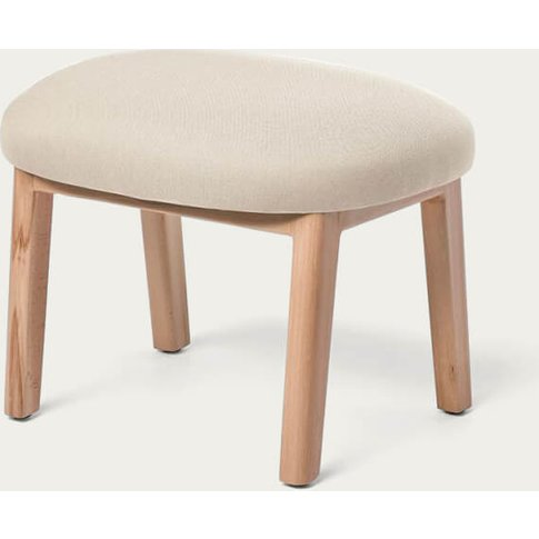 Crème Dost Wood Footstool