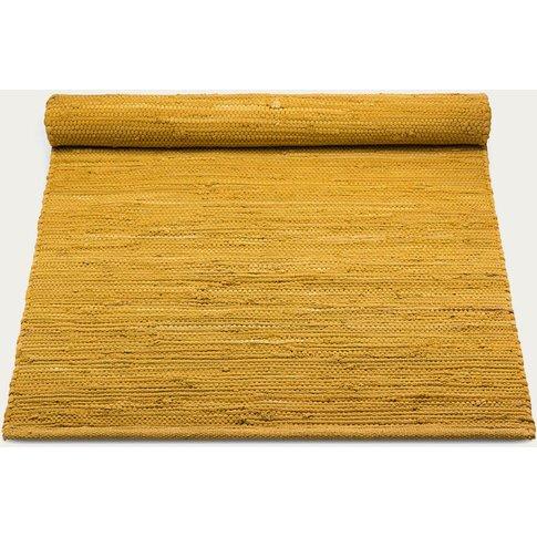Burnished Amber Cotton Rug