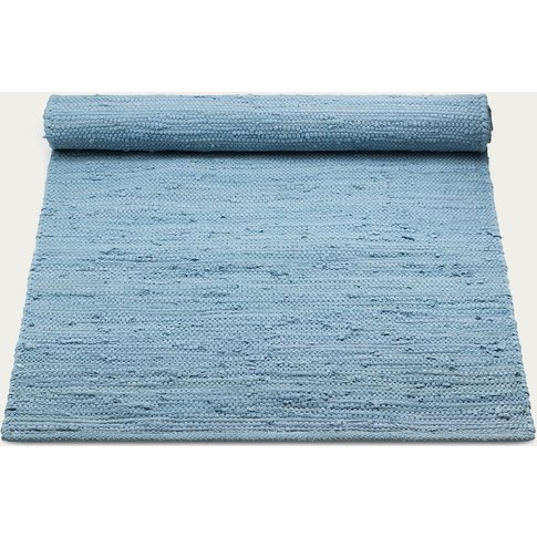 Eternity Blue Cotton Rug