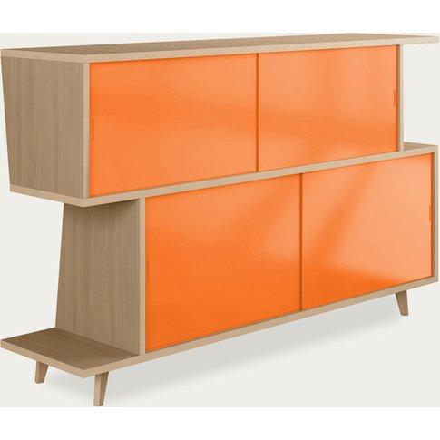 Oak/Orange Sideboard