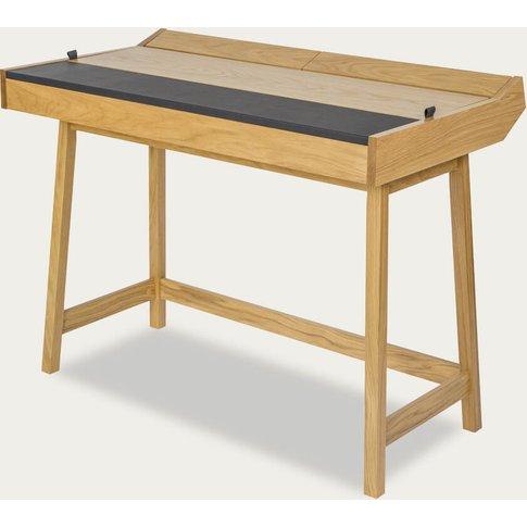 Oak/Black Brompton Flap Desk