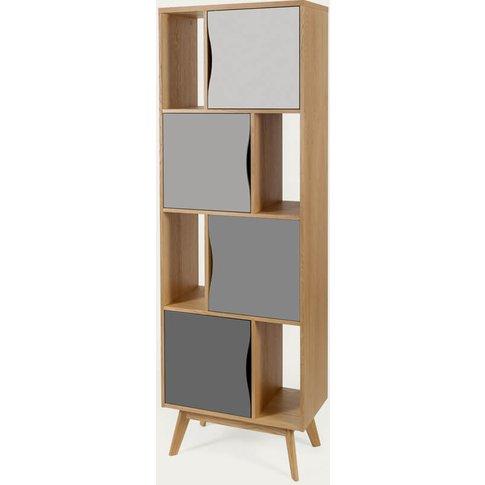 Oak/Grey Avon Bookcase Narrow Standard