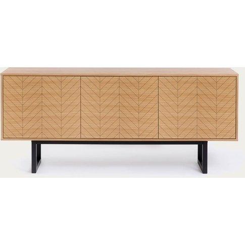 Oak Herringbone Print Camden Sideboard