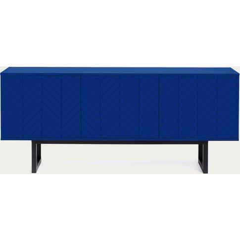Blue Herringbone Print Camden Sideboard