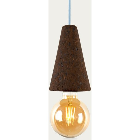 Expanded Cork And Blue Cable Sino #1 Pendant Lamp