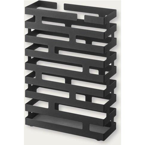 Black Rectangular Brick Modern Umbrella Stand