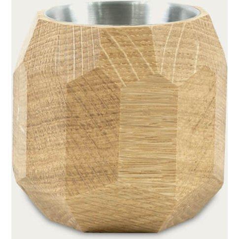 Oak Wooden Geometric Succulent Planter