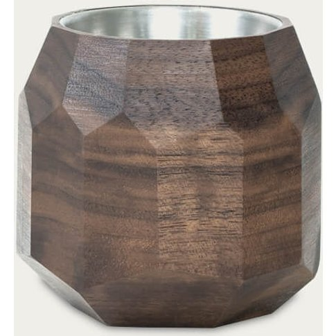 Walnut Wooden Geometric Succulent Planter
