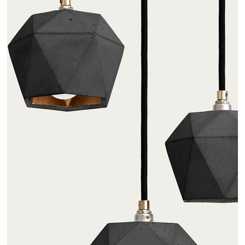 Dark Grey Bundle Pendant Light Triangle