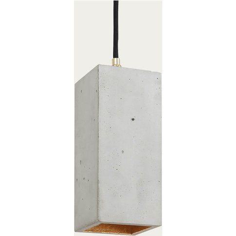 Graphite Grey Vertical Rectangle Pendant Light