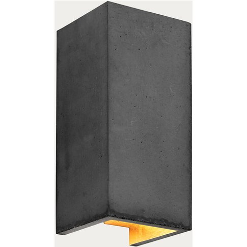 Dark Grey Wall Light Rectangular