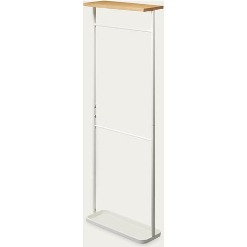 White Tower Hanging Umbrella Stand With Wooden Top