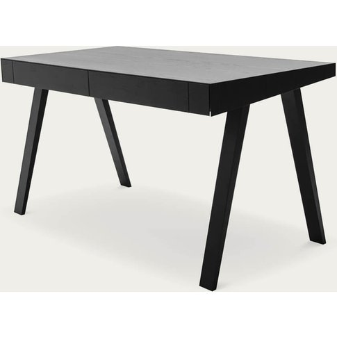 Lithuanian Ash Painted Black 2 Drawers 4.9 Desk