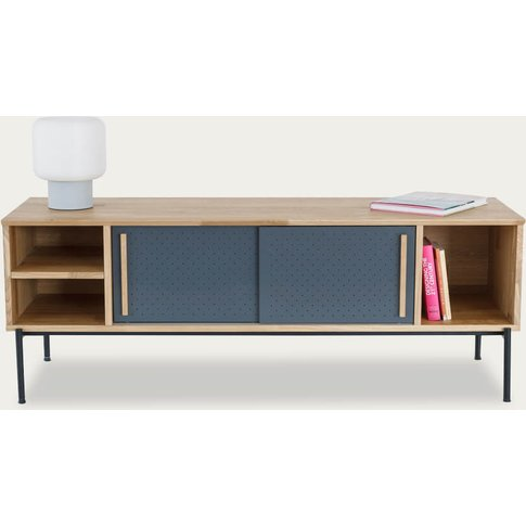Oak Venner/Anthracite Gray Uribitarte Sideboard