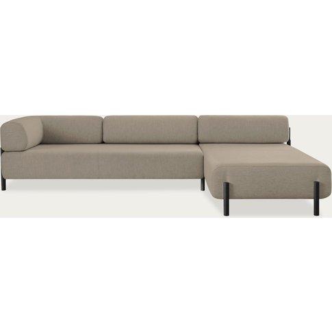 Beige Palo Modular Corner Sofa Left