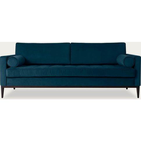 Teal Model 02 Velvet 3 Seater Sofa