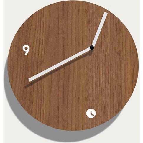 Walnut Wood Finished Globus Air Wall Clock