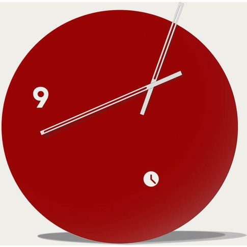 Garnet Lacquered Finished Slice Table Clock