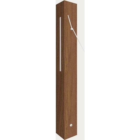Oak Wood Finished Totem Light Table Clock