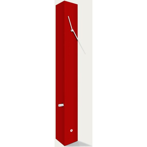 Garnet Lacquered Finished Totem Table Clock