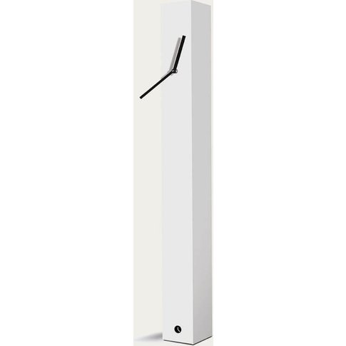 White Lacquered Finished Totem Table Clock