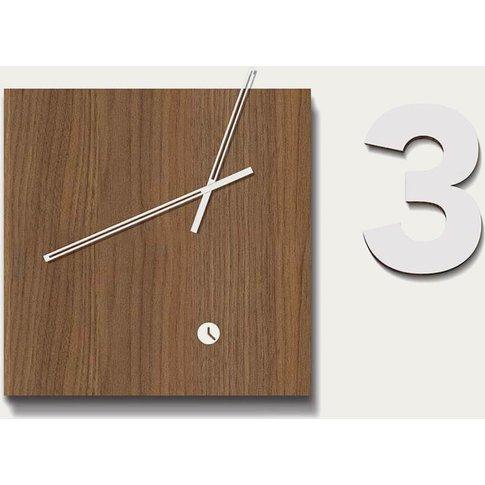 Walnut Wood Finished Area Three Wall Clock