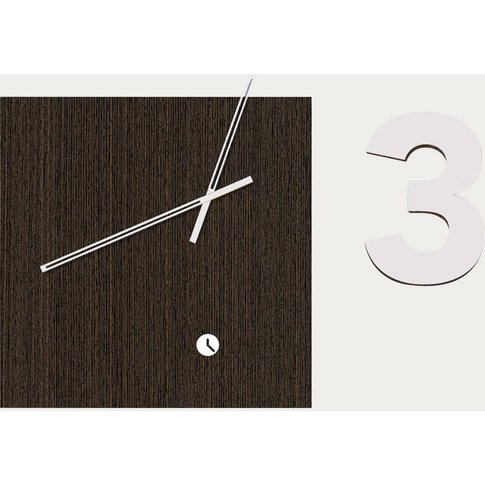 Wenge Wood Finished Area Three Wall Clock