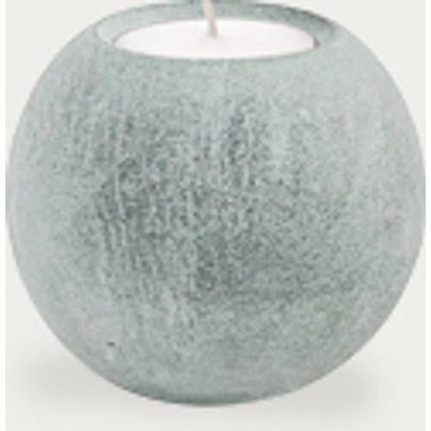 Ball Of Stone Candle Holder