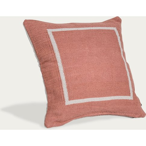 Terracotta Jamakhan Square Handwoven Cushion