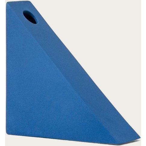 Blue Triangle Vase