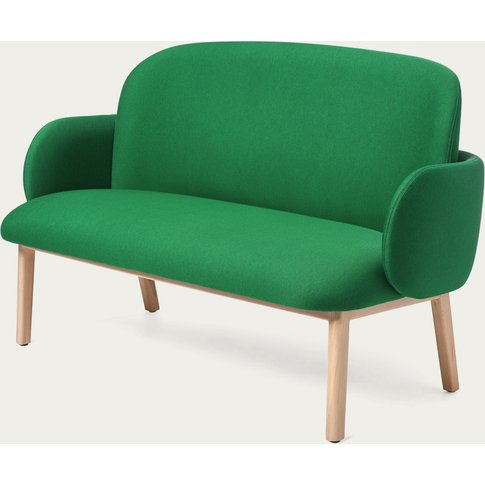 Dark Green Dost Wood Sofa