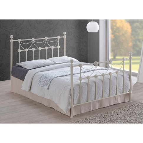 """Time Living Ivory Omero Bed Frame - Double (4'6"""" X 6..."""