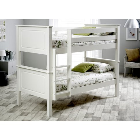 "Bedmaster White Ashley Bunk Bed - Single (3' X 6'3"")"