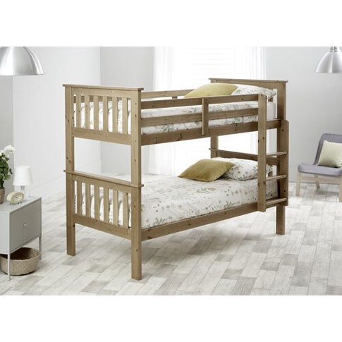 "Bedmaster Pine Carra Bunk Bed - Single (3' X 6'3"")"