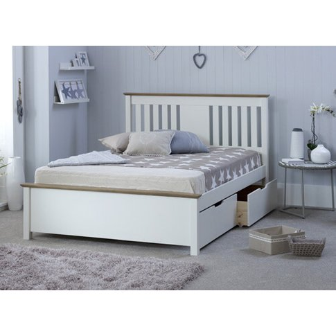 """Bedmaster White Chester Bed - Single (3' X 6'3""""), No..."""
