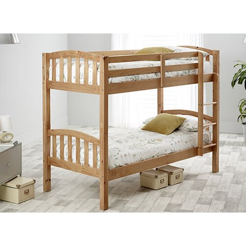 "Bedmaster Pine Mya Bunk Bed - Single (3' X 6'3"")"