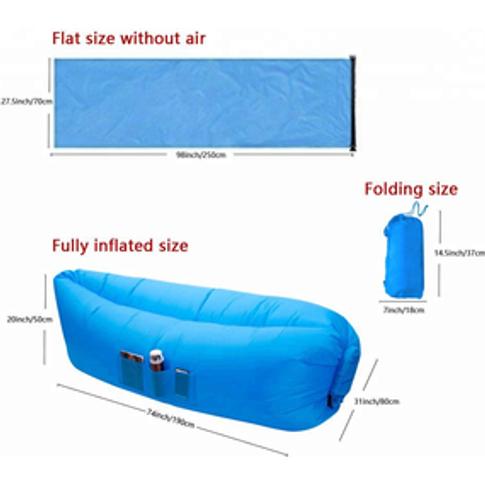Inflatable Lounger Air Sofa Hammock-Portable Beach B...