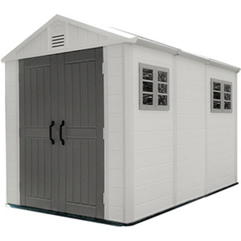 Triple room middle size outdoor HDPE Plastic  shed f...
