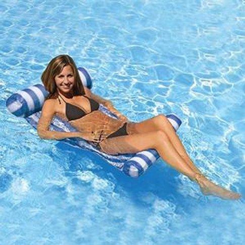 Swimming Pool Beach Floating Water Hammock Lounge Ch...