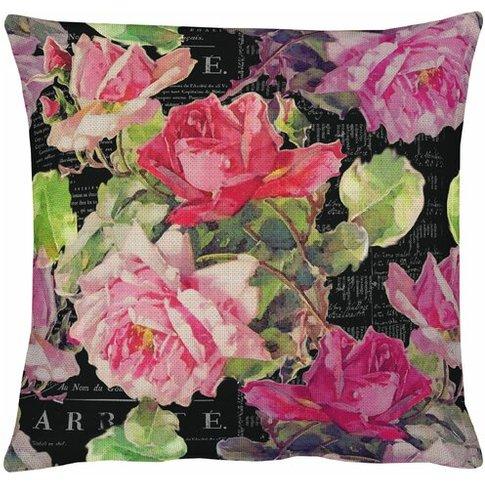 Summer Garden Cotton Cushion Cover