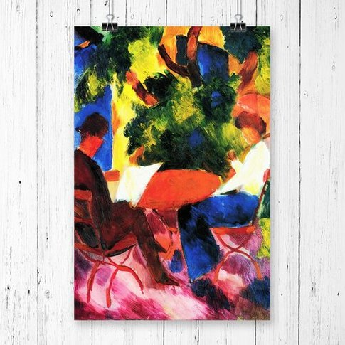 'At The Garden Table' By August Macke Printing Print