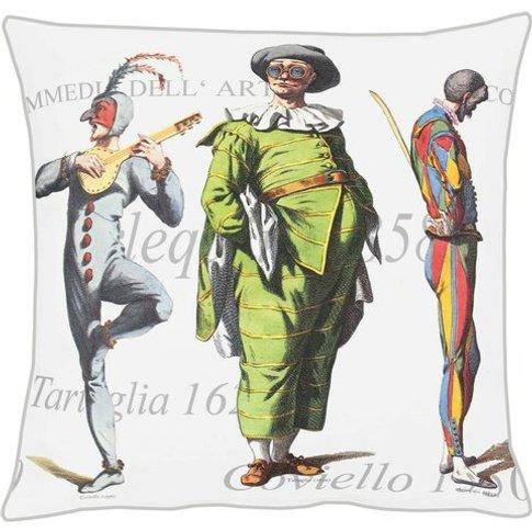 Commedia Cotton Cushion Cover