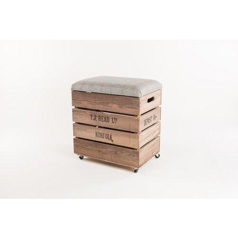 Apple Box Breakfast 60cm Bar Stool With Cushion