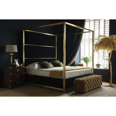 Hoxton Four Poster Bed - Super King 180 X 200cm - 6ft - Brushed Brass