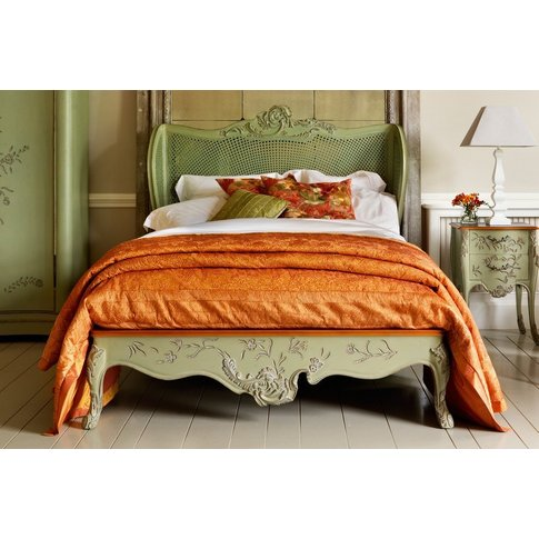 Floral Caned Bed - Emperor 202 X 200cm - 6ft 6inches