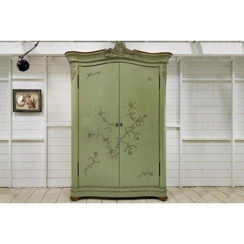 Floral Wardrobe - 2 Door