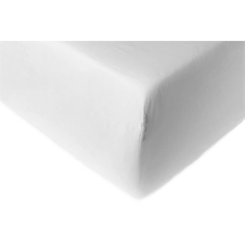 Rest Fitted Sheet - Double 4ft 6 140 X 190cm - White