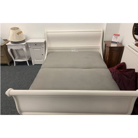 Manoir Painted Bed With Bed Base King - Ex Display -...